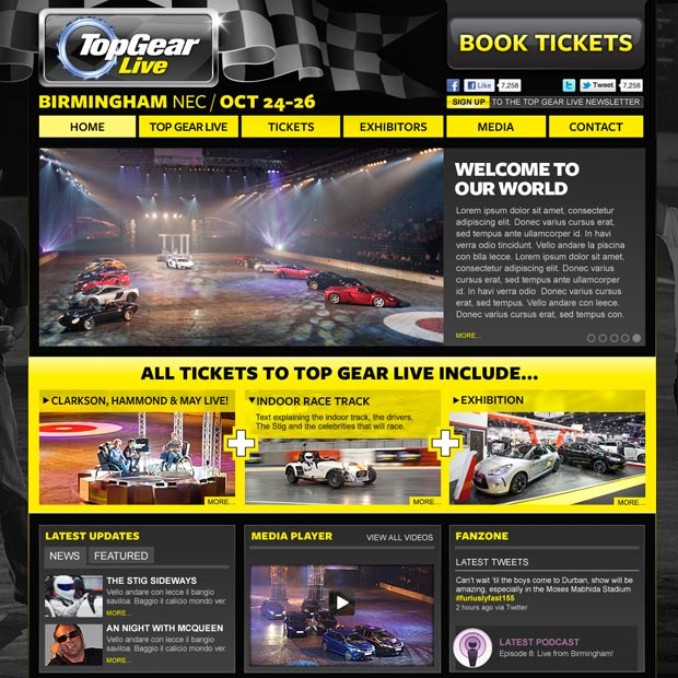 Top Gear Live Website