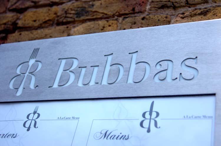 Bubba engraved sign