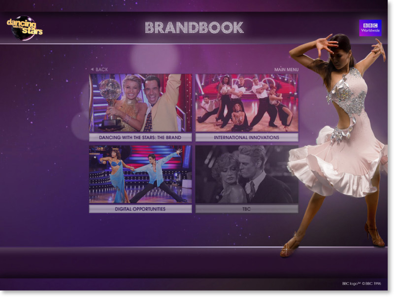 Dancing with the Stars Screen shot choose a section
