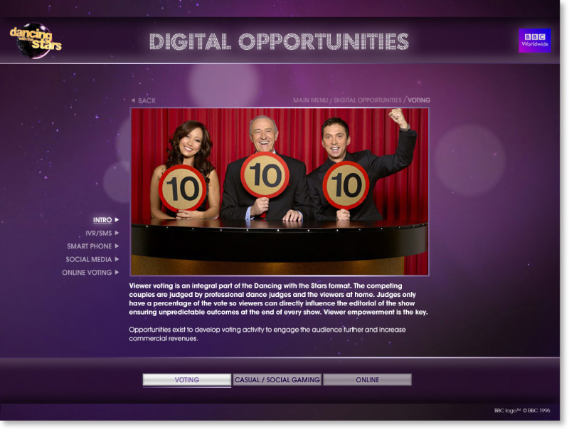 Dancing with the Stars Screen shot design 02