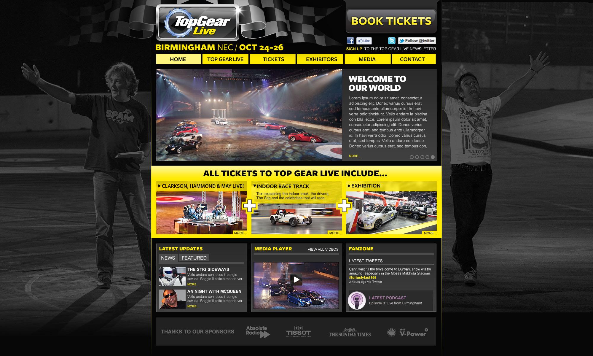 TopGear Live web design