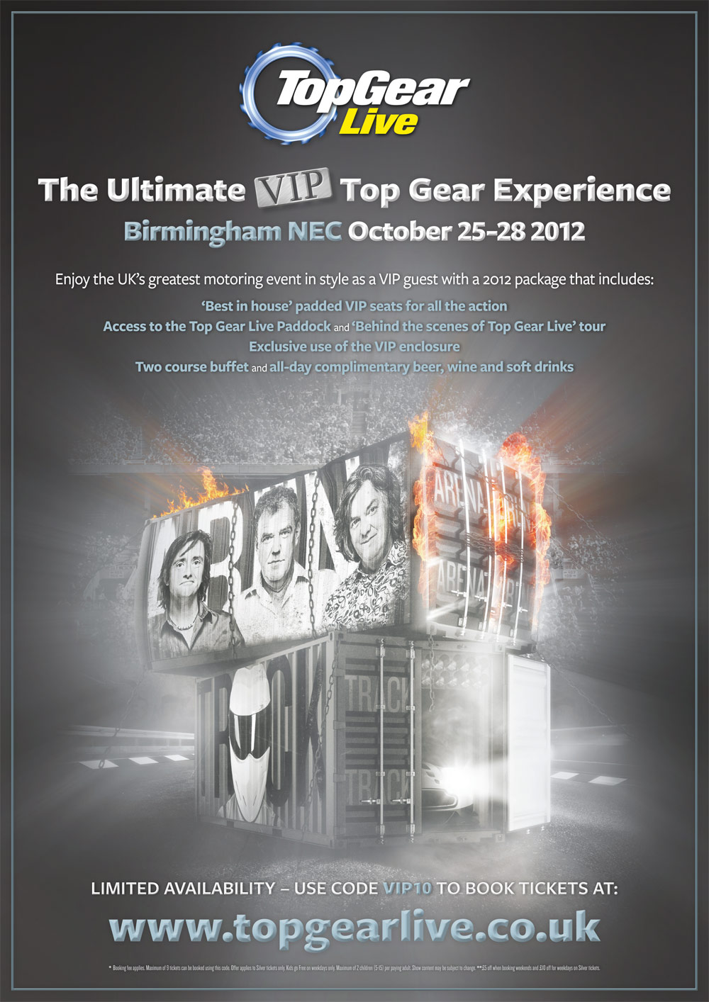 Print Advertising Design for Top Gear Live2