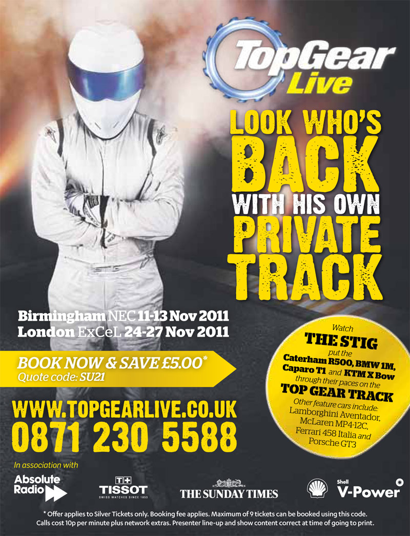 Print Advertising Design for Top Gear Live