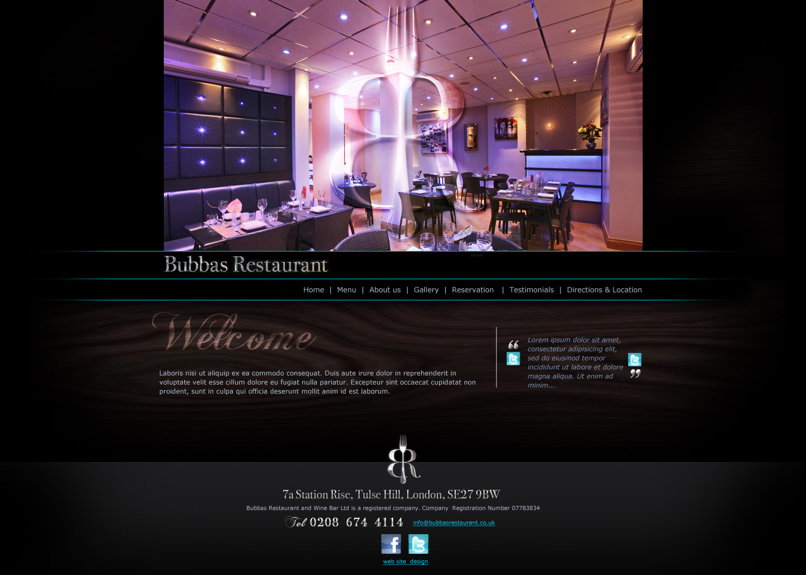 Bubbas Web DEsign Home Page