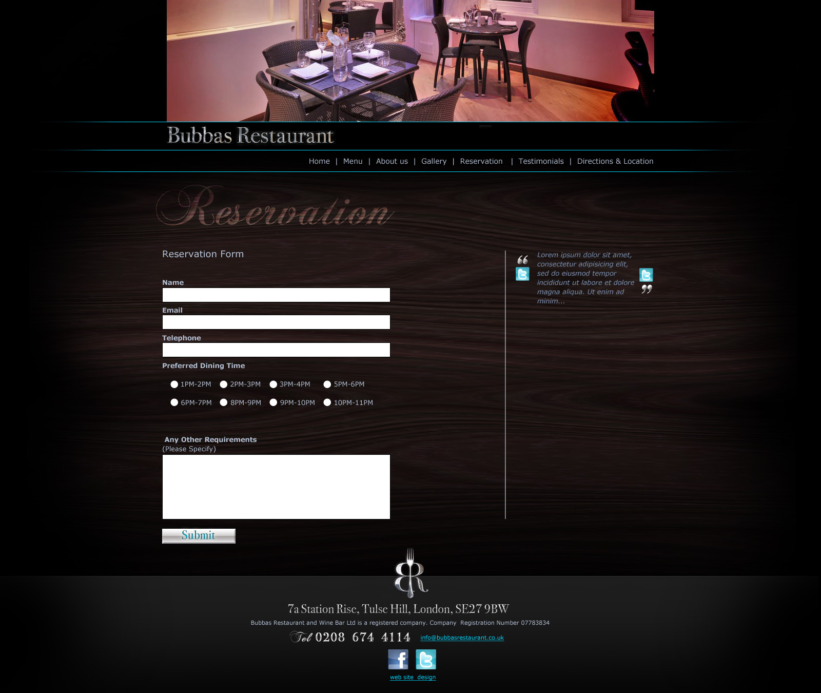Bubbas Website Design