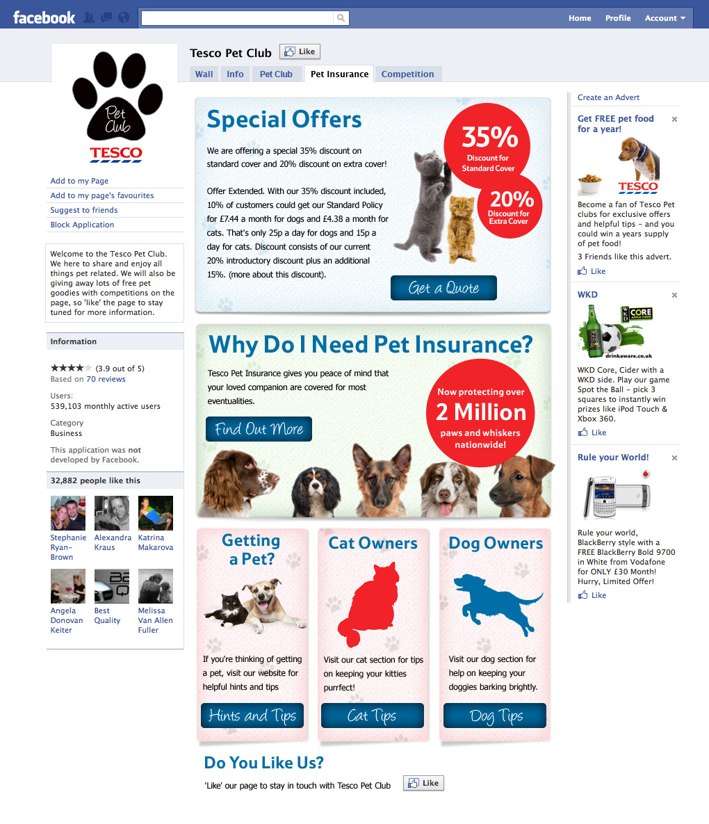 Tesco Pet Club Design