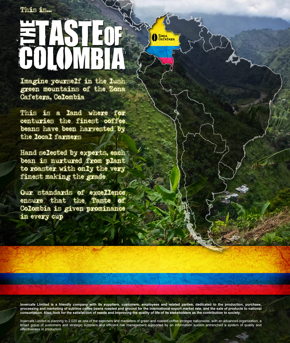 taste of colombia packaging design