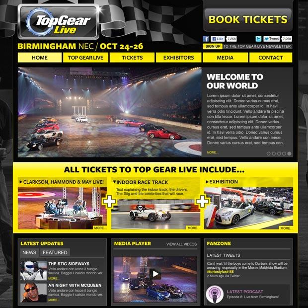 Top Gear Live Website
