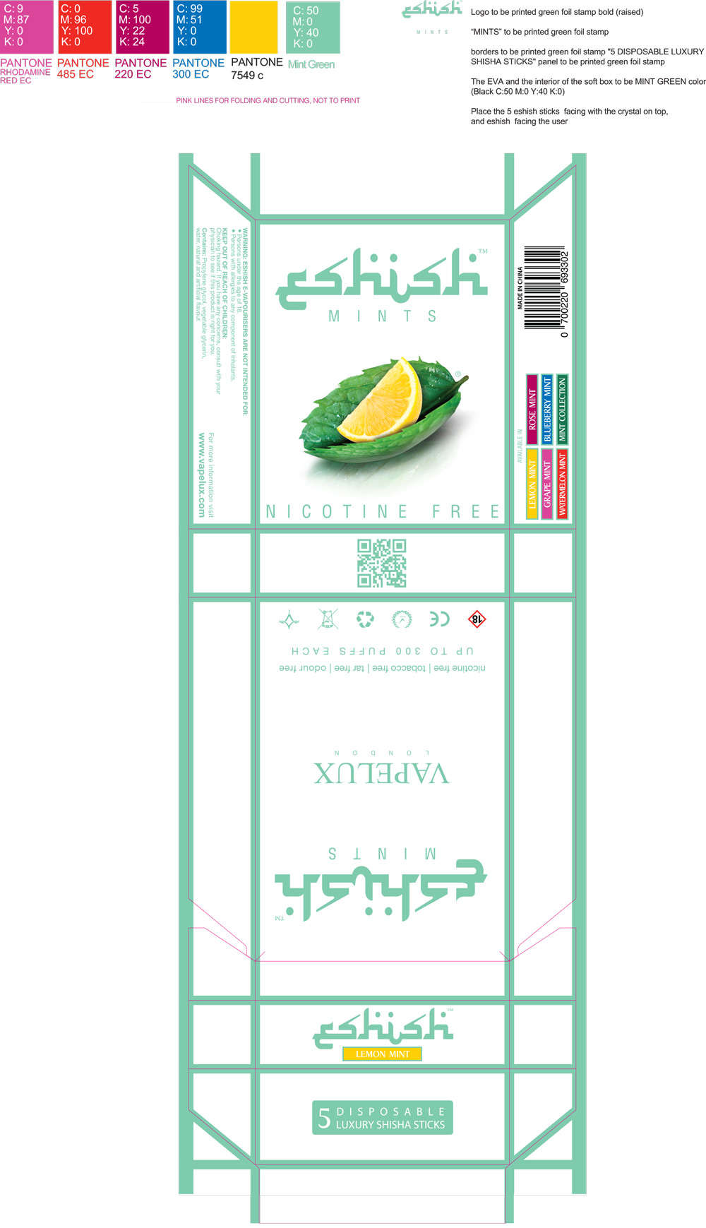 Mint packaging design