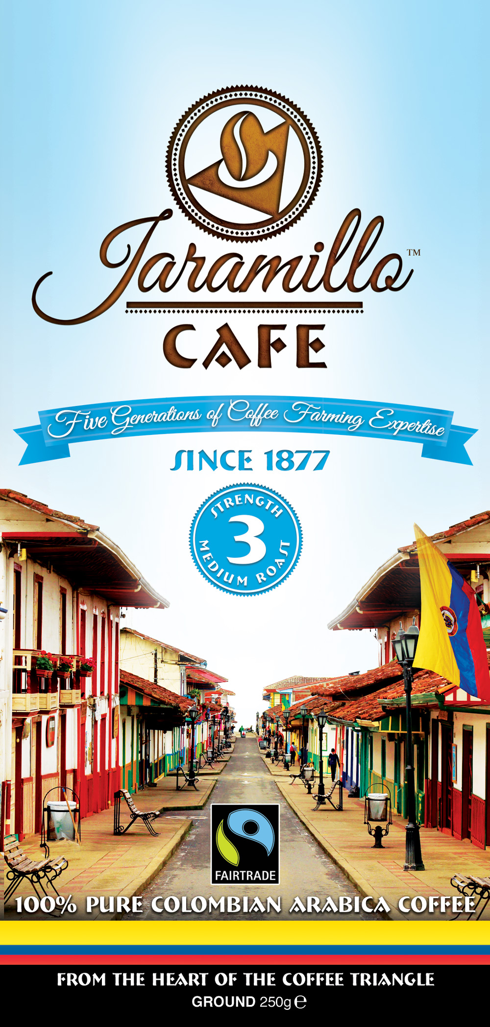 Jaramillo Cafe packaging Design